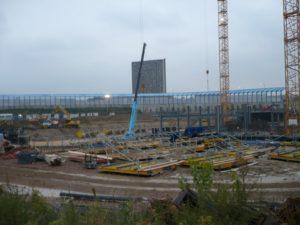 Bologna: il cantiere iniziale dove poi è stato costruito, per un grosso gruppo assicurativo, il più alto edificio della città