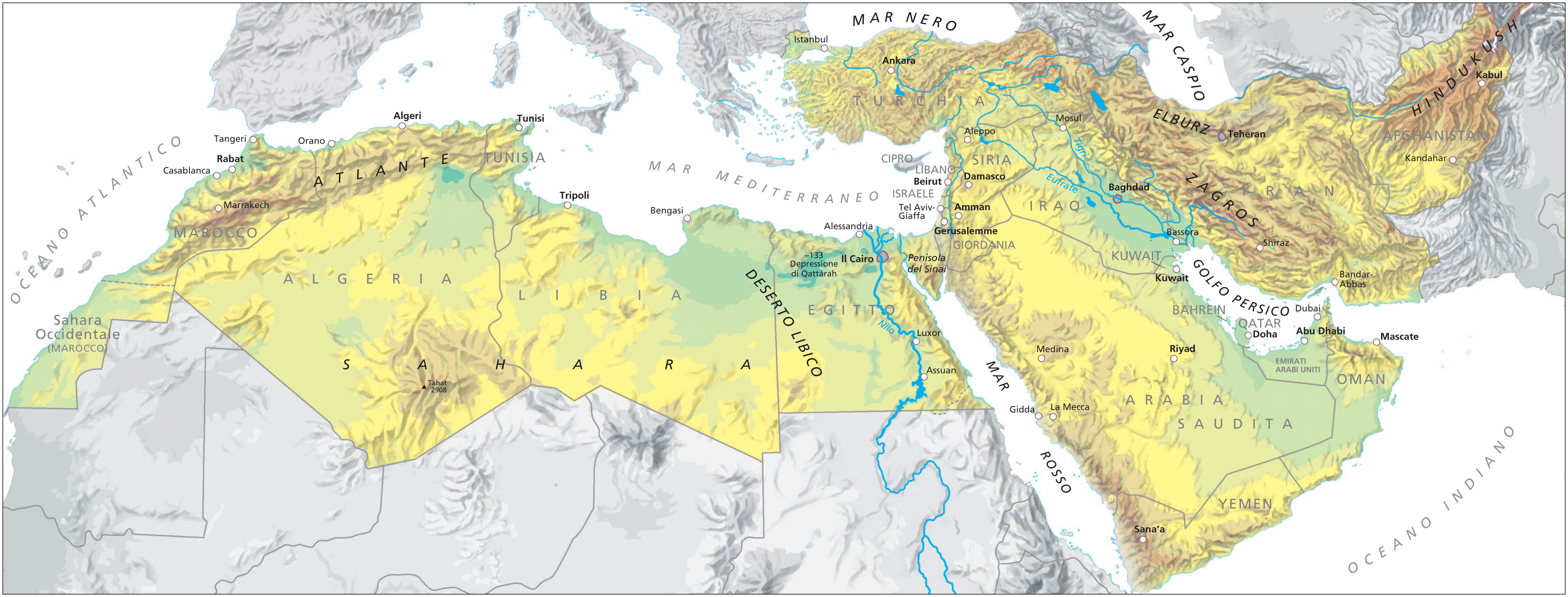 Cartina Italia E Nord Africa.Maghreb E Medio Oriente Situazione E Prospettive