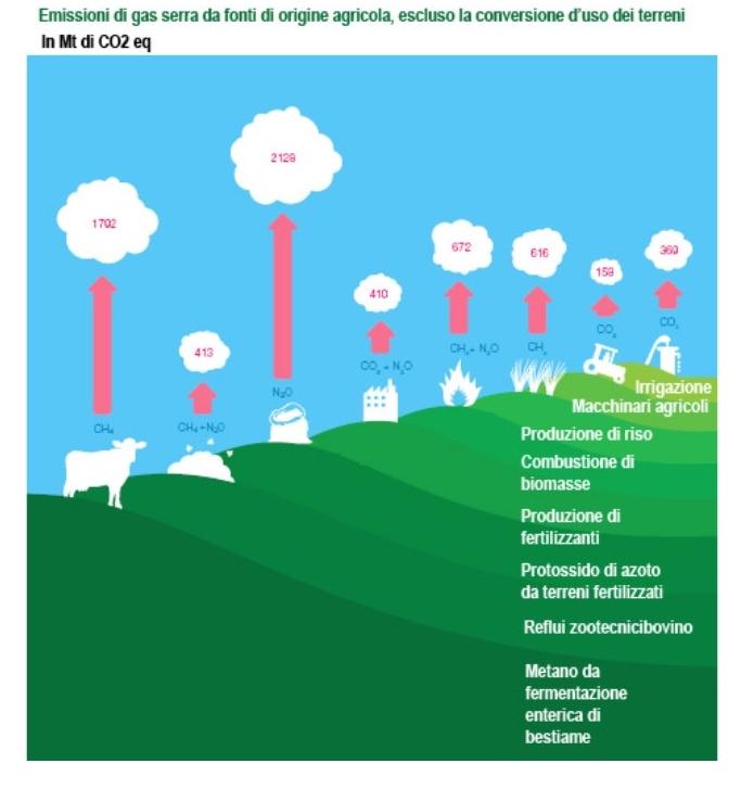 gas serra agricoli