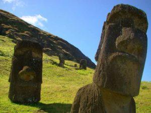 Moai nell'Isola di Pasqua